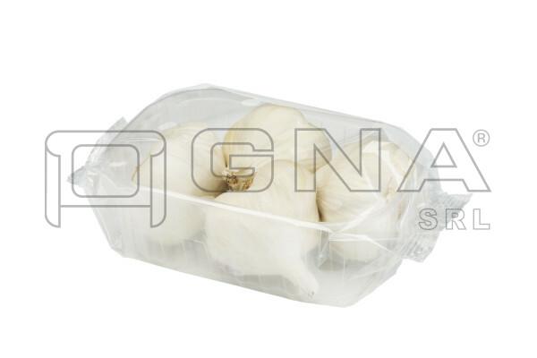 Vaschetta di aglio confezionata in flowpack