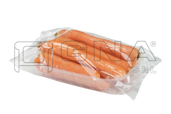 Vaschetta di carote confezionata in flowpack
