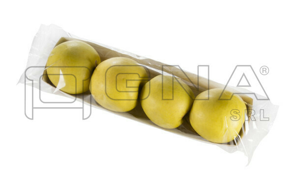 Vassoio di mele sitle hot-dog confezione flowpack