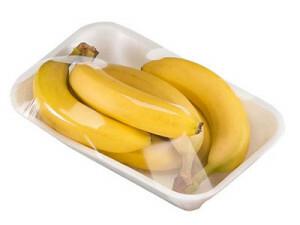 Vaschetta di banane confezionate in stretch