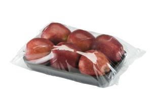 Vaschetta di mele confezionata in flow pack