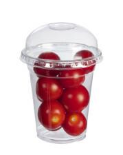 Confezionamento pomodori in bicchiere