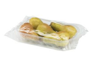 vaschetta di pere confezionata in flow pack