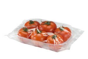 vaschetta di pomodori confezionata in flow pack