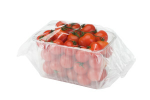 vaschetta di pomodori confezionata in flowpack