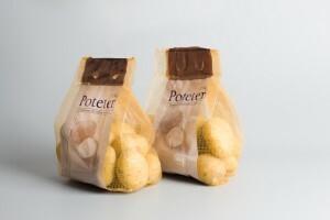 Patate confezionate in sacchetti